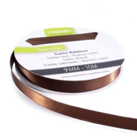 301002-2024 Vaessen Creative satijnlint dubbel 9mm - 10m bruin