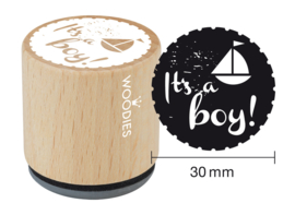 WE6002 Woodies It's a boy Rubber Stamp