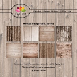 PP0062 Dixi Craft Paper Pack Wooden Background - Brown
