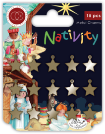 CCMCHRM015 Craft Consortium Nativity Metal Charms Stars