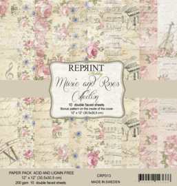 CRP013 Reprint 12x12 Inch Collection Pack  Music & Roses