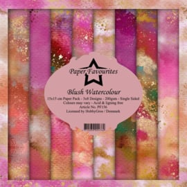 PF156 Paper Favourites Blush Watercolour 6x6 Inch Paper Pack