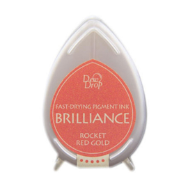 BD-000-096 Dew Drop Brillance Ink Pad Rocket Red Gold