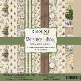 RPM009 Reprint Collection 8x8 Inch Paper Pack Christmas Holiday