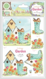 CCDPAK003 Craft Consortium Cottage Garden 3D Decoupage