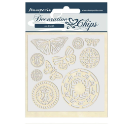 SCB42 Stamperia Decorative Chips Amazonia Butterfly Tribal