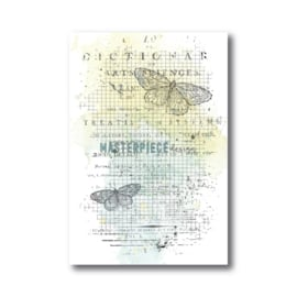 1016 Masterpiece Stempel Butterfly grid background