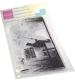 MM1646 Clear Stamp Fishing