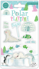 CCSTMP021 Craft Consortium Polar Playtime Make a Splash Clear Stamps