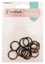 RINGSSL01 Planner Collection - Binding Rings Black