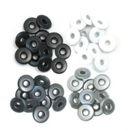 41596-7 We R Memory Keepers wide eyelets grey