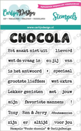 CDST-0065 Stempels Foute chocola