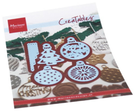 LR0682 Creatables stencil Merry Christmas baubles