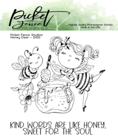 D-100 Picket Fence Studios Honey Dear Clear Stamps