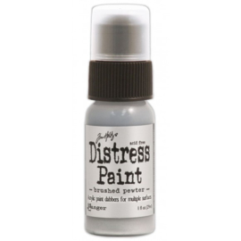 15TDD36326 Tim Holtz distress paint metallic brushed pewter
