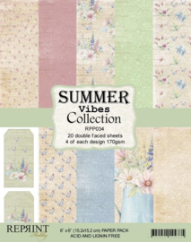 RPP034 Reprint  Collection 6x6 Inch Paper Pack Summer Vibes