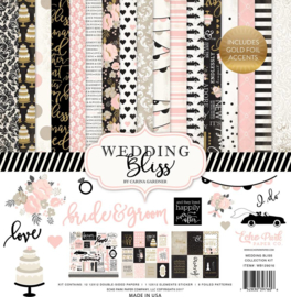 WB129016 Echo Park Wedding Bliss 12x12 Inch Collection Kit