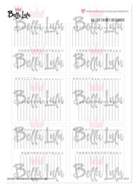 5003/0004 Bella Lulu Knipvel Kalender Juli - Dec