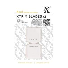 "XCU 268504 Xcut 13"" Xtrim Replacement Blades (2pcs) Deckle & Scallop"