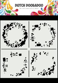 470.715.628 Mask Art 15 X 15 cm Circle Grunge