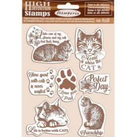 WTKCC188 Stamperia Natural Rubber Stamp Cats