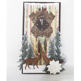 CR1388 Marianne Design Craftables cuckoo clock