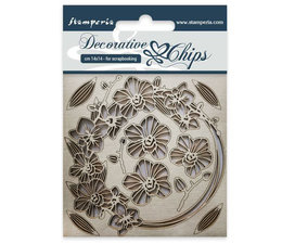 SCB23 Stamperia Decorative Chips Garland of Flowers