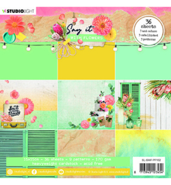 SL-SWF-PP162 - SL Paper pad Pattern Paper Say it with flowers