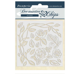 SCB44 Stamperia Decorative Chips Passion Roses