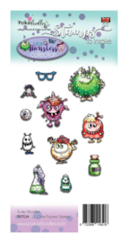 PD7034 Polkadoodles Little Monsters Clear Stamps Funky