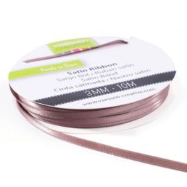 301002-0023 Vaessen Creative satijnlint dubbel 3mm - 10m melkchocolade