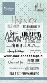 CS1037 Clear Stamp Hallo winter by Marleen