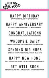 HFD0062 Heffy Doodle Everyday Sentiment Duos Clear Stamps