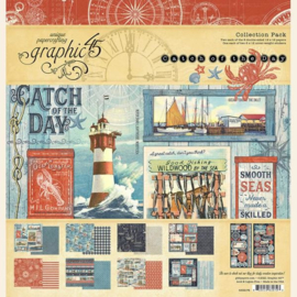 4502176 Graphic 45 12x12 Inch Collection Pack Catch of the Day