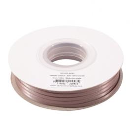 301002-5023 Vaessen Creative • Satijnlint dubbel 3 mm 100m Melkchocolade