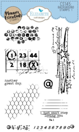 CS145 ECD Clearstamps Background Stamps 1
