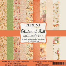 RPM006 Reprint Collection 8x8 Inch Paper Pack Shades of Fall