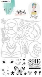BASICSDCKJ03 Stamp & Die Cut Karin Joan Missees