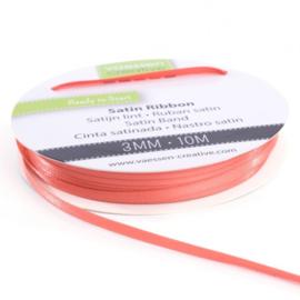 301002-0008 Vaessen Creative satijnlint dubbel 3mm - 10m watermeloen