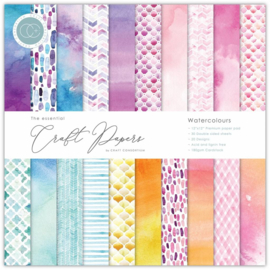 CCEPAD003B Craft Consortium Essential Craft Papers 6x6 Inch Paper Pad Watercolours
