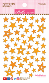 BB1674 Bella BLVD Orange Mix Puffy Stars Stickers