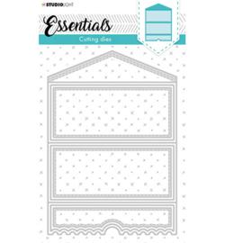 STENCILSL396 Cutting Die Cardshape Twisted gate Essentials