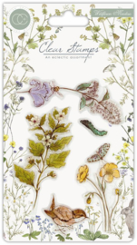 CCSTMP005 Craft Consortium Wildflower Meadow Clear Stamps Wild Flowers