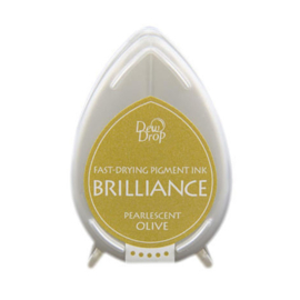 BD-000-053 Dew Drop Brillance Ink Pad Pearlscent Olive