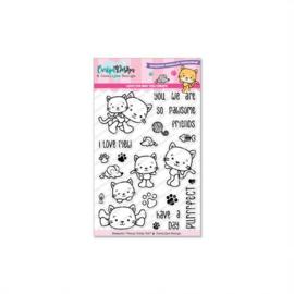 CDJD-0014 Stempels Penny Kitty cat - door Jocelijne Design