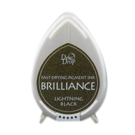 BD-000-095 Dew Drop Brillance Ink Pad Lightning Black