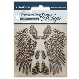 SCB30 Stamperia Decorative Chips Wings
