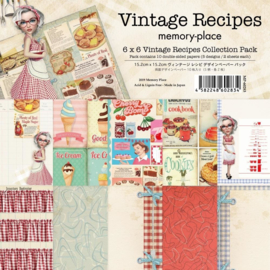 MP-60283 Memory Place Vintage Recipes 6x6 Inch Paper Pack