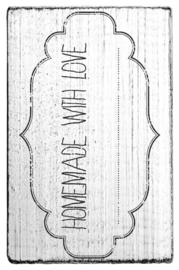 V01006 Colop Homemade With Love Vintage Rubber Stamps