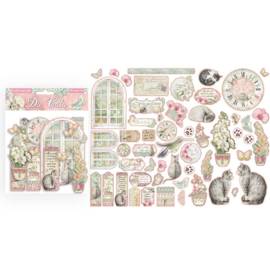DFLDC26 Stamperia Orchids and Cats Die Cuts